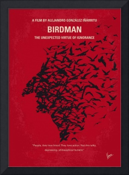 No604 My Birdman minimal movie poster