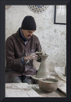 Throwing Pots at Pottery Studio, Fes, Morocco