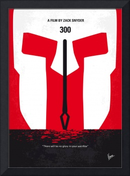 No001 My 300 minimal movie poster