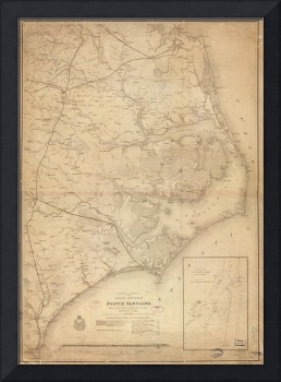 Vintage Map of Eastern North Carolina (1862)