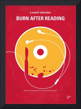 No547 My Burn After Reading minimal movie poster