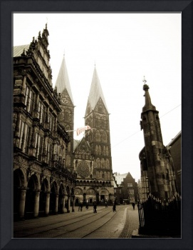 Old center of Bremen.
