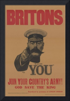 A World War I recruitment poster featuring Lord Ki