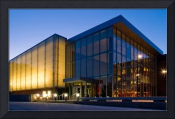 Arthur Miller Theatre at night