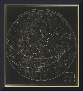 Vintage Astronomical & Celestial Map (1850)