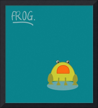 cute little frog in pastel colors