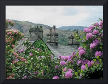 English Cottage rooftops
