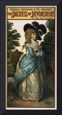 Vintage poster - Duchess of Devonshire