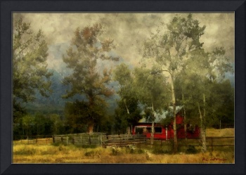Storm Approaching White Birch Cottage