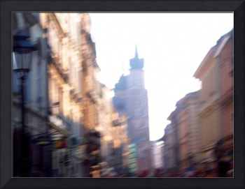 Blurred the old city