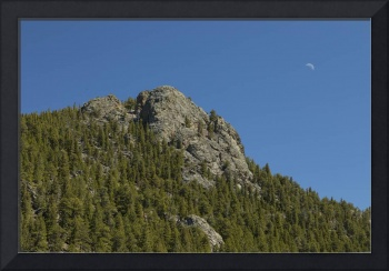 Buffalo Rock With Waxing Crescent Moon