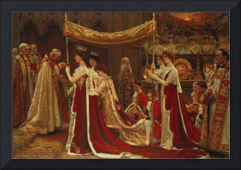 Laurits Tuxen~The Anointing of Queen Alexandra at