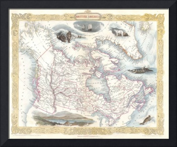Vintage Map of Canada (1849)