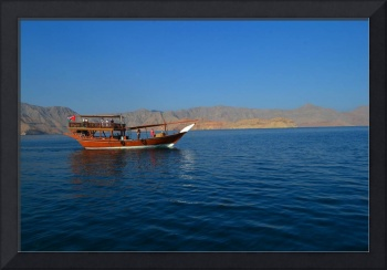 Boat in Musandam Bay