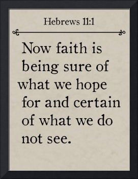 Hebrews 11:1- Bible Verse Wall Art Collection