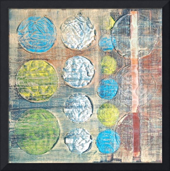 Encaustic Abstract Balls