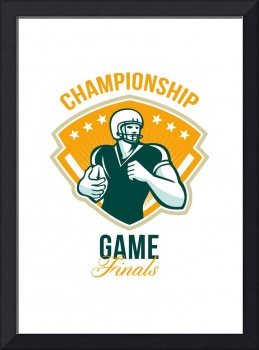 American Football Championship Game Finals Crest