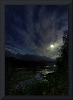 Hoh River Moon