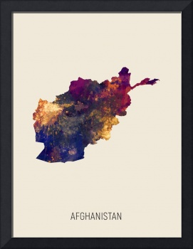 Afghanistan Watercolor Map