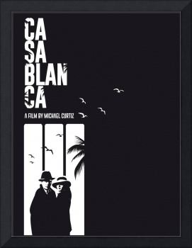Alternative casablanca minimalist movie poster