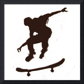 Skateboarder 3 . black white (c)