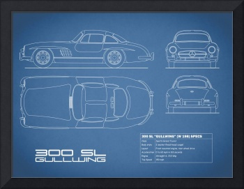 Mercedes 300SL Gullwing Blueprint