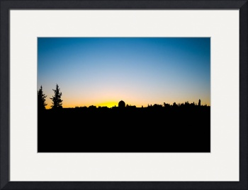 Sunset in Jerusalem by D. Brent Walton
