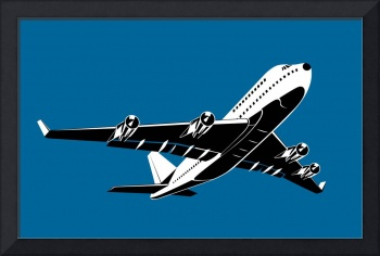 commercial jet plane airliner flying