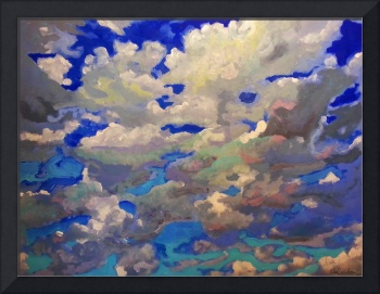 Windy skyscape painting picture