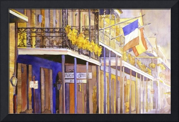Watercolor painting of architecture in New Orleans