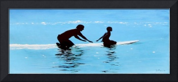 Father and Son Surf Day