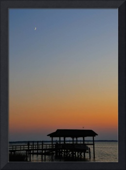New Moon over Dock