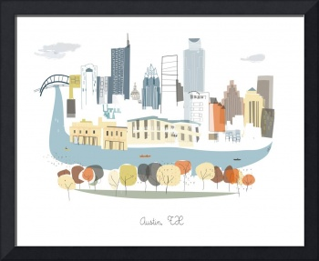 Austin Modern Cityscape Illustration