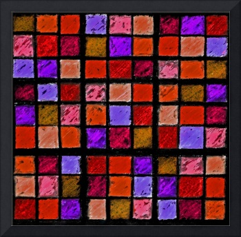 Sudoku Abstract Red Orange Purple