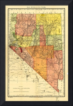 Township Map of Nevada (1893)