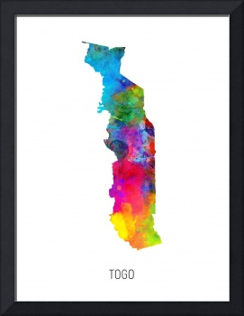 Togo Watercolor Map