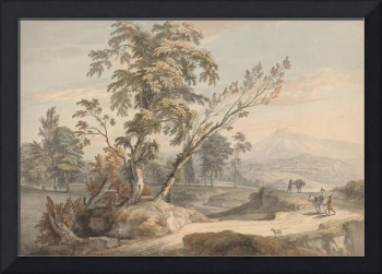 Paul Sandby~Italianate Landscape with Travellers N