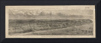 Vintage Pictorial Map of Long Branch NJ (1873)