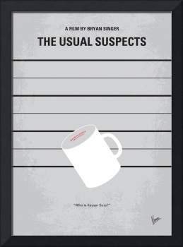 No095 My The usual suspects minimal movie poster