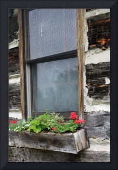 Log Cabin Window