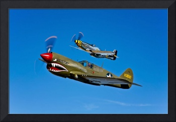 A P-40E Warhawk and a P-51D Mustang Kimberly Kaye