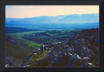 Evening View from Mycenae, Greece, Spring 1960