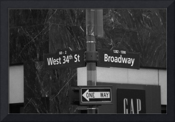 34th St and Broadway B&W