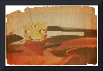 Fiddle in grunge style