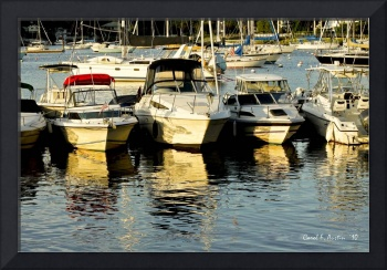Boats Reflected on the Harbor