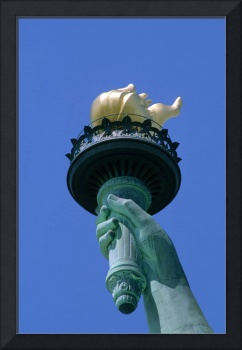 Close-Up Of Torch Of Statue Of Liberty, New York C