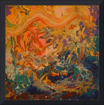 Contemporary Abstract Painting -  Liquid Dreams 3,