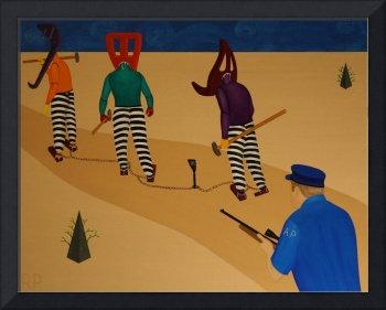 Autoanimation Convicts on a Chain Gang