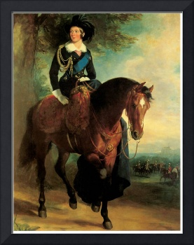 Portrait of Queen Victoria on Horseback (1840)