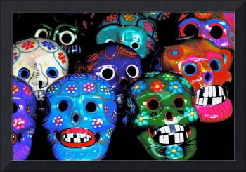 Traditional Mexican Laughing Skulls